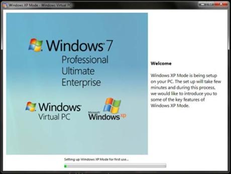 Configurando do XP Mode para o primeiro uso..