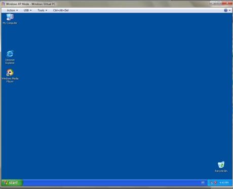 Windows XP carregado dentro do Windows 7
